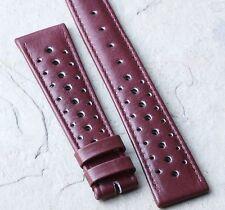 Light burgundy 20mm vintage watch 1960s/70s racing strap 20mm rally strap NOS