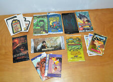 TRADING CARD LOT LOOSE & SEALED TMNT HULK HARRY POTTER LORD OF THE RINGS GPK