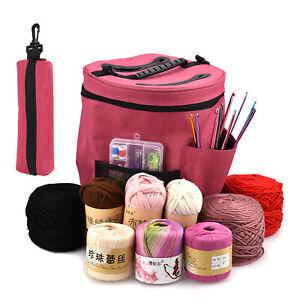 2 x Stricktasche Stricken Häkeln Tasche Aufbewahrung Korb Wolle Garn Fäden