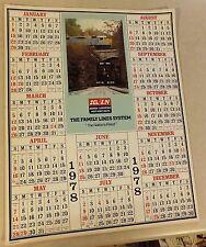 "VTG SCL/ L&N RR GEORGIA CLINCHFIELD WEST POINT RT 1978 WALL CALENDAR 22"" X 28"""