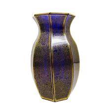 Kobaltblaue Bleikristallvase, Josephinenhütte, Entw. S. Haertel, signiert