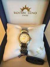 ROVEN DINO LADIES SWISS WATCH BRAND NEW WITH 5 YR WARRANTY 18Kt Gold 6009LTT1G9