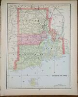 "Vintage 1903 RHODE ISLAND Map 11""x14"" ~ Old Antique Original KINGSTON NEWPORT"