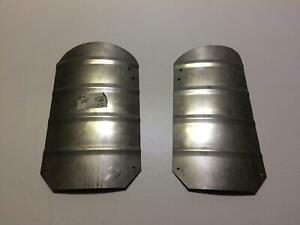 Volvo PV mudflap plate rear left and right (stainless steel)