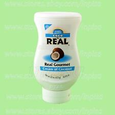 COCO REAL 1 Bottle x 22oz CREAM OF COCONUT SIMPLE SQUEEZE REAL GOURMET