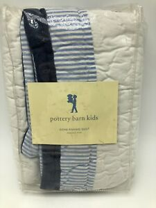 Pottery Barn Kids Gone Fishing Quilted Standard Pillow Sham