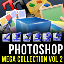 PHOTOSHOP (CS,CS2, CS3,CS4, CS5, CS6, CC) MEGA (ULTRA) GRAPHIC DESIGN PACK VOL 2