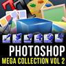 PHOTOSHOP (ADOBE CS,CS2, CS3,CS4, CS5, CS6, CC) MEGA GRAPHIC DESIGN PACK VOL 2