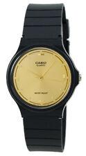 Casio Men's Analog Quartz Gold Tone Dial Black Resin Watch MQ76-9A