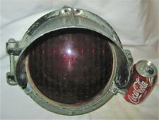 Antique Rochester New York Red Stop General Railway Signal Lamp Light Tool Sign