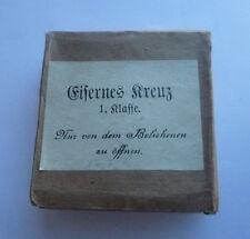 Eisernes Kreuz 1. Klasse im original Verleihungsetui & Überkarton