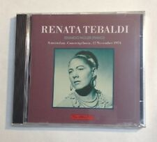 Renata Tebaldi, Recital Amsterdam, 1974 (Audio CD)