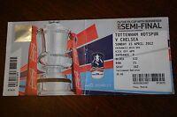Tottenham Hotspur v Chelsea 2012 FA Cup Semi-Final Ticket Stub