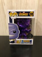 Marvel Avengers Infinity War Chrome Thanos  Exclusive Vinyl Funko Pop