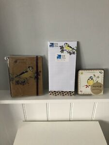 BNWOT RSPB bundle Bluetit Notebook Magnetic Memo Pad and Four Coasters
