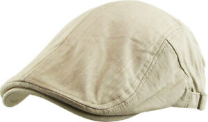 Solid Cotton Gatsby Cap Mens Denim Hat Golf Driving Summer Sun Cabbie Newsboy