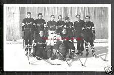 Enge Ice Hockey team rppc Klosters Graubünden Switzerland 30s