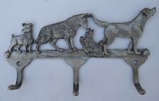 Adorable Unique Metal Wall Mount Key or Leash Holder With Four Dogs