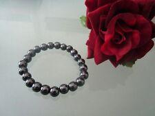 Hämatit Perlen Armband Schwarz Energie Stein Therapie Chakra Abnehmen Glückbring