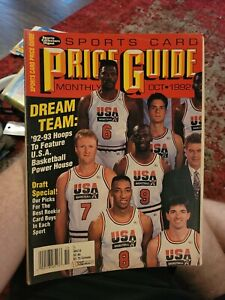 October 1992 Sports Collectors Digest Sports Card Price Guide USA Dream Team L1