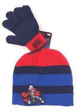 Marvel Comic Series Mighty THOR Boy's Beanie Hat & Gloves 2 Pc Set NWT