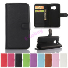 Solid Magnetic Flip PU Leather Wallet Case Cover Card Skins For Samsung Galaxy
