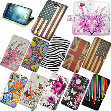 Luxury Leather Wallet Flip Stand Cover Case Protect For Samsung Galaxy Note 2 II