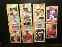 1987 Topps Baseball Cincinnati Reds Complete 30 card Set-Rose MGR,Larkin Rc-NMMT