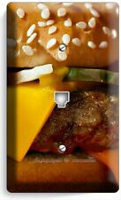 CHEESEBURGER BEEF JUICY BURGER PHONE TELEPHONE WALL PLATE COVER KITCHEN NY DECOR
