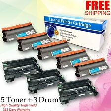 3x DR720 Drum 5x TN750 Toner Set For Brother MFC:8510DN 8515DN 8520DN 8710DW