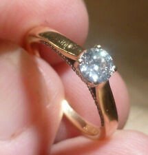18ct Gold 0.43ct SOLITAIRE DIAMOND Ring with Certificates Hallmark Box Size N1/2