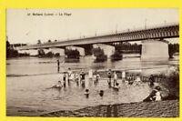 cpa FRANCE 45 - cachet DAGUIN BRIARE (Loiret) PONT CANAL sa PLAGE sa PÊCHE Animé
