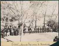 Algérie, Tiaret - 1er janvier 1896. Une remise de décorations  vintage citrate p