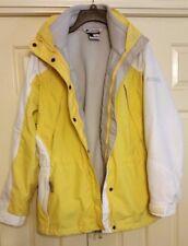 Women's Columbia M Core Interchange 3 in 1 Yellow/White/Gray Hooded Jacket