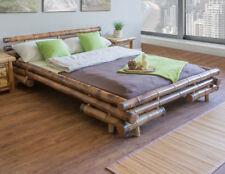 Neu Bambusbett Bambus Bett 180 cm braun massiv Futonbett Doppelbett Holzbett