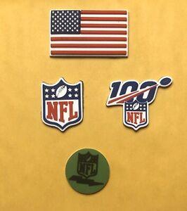 3D American Flag NFL Shield 3D Green Com 100 Yr 3D Riddell Speed Flex Schutt