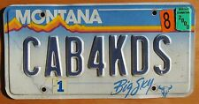 Montana 2000 VANITY License Plate CAB FOR KIDS