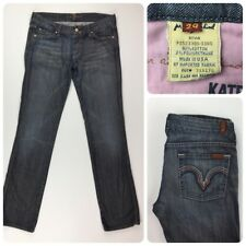 7 For All Mankind Womens KATE Straight Leg Distressed Jeans W32xL33
