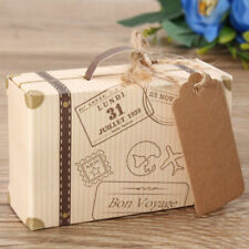 50PCS Wedding Favors Mini Suitcase Gift Box Kraft Candy Boxes Bags Party Supply