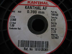 KANTHAL AF round  0.7MM  Resistance heating wire 5 METER!!! iron-chromium-alumi