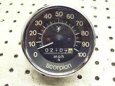 Scorpion Snowmobile Speedo Speedometer Oem Vint Tested