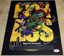 Cool Kick-Ass Signed 11x14 By 5 Johnson Moretz Cage Mintz-Plasse Strong PSA LOA