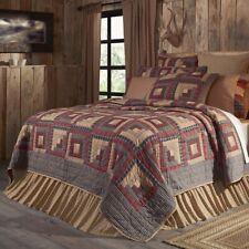 VHC Rustic Cotton Quilt Bedspread Blanket Luxury King Queen Twin Patchwork