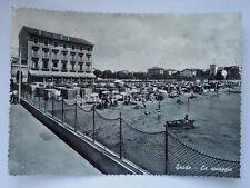 GRADO la spiaggia Gorizia vecchia cartolina 1273