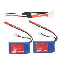 2Pcs 7.4V 1100mAh Lipo Battery Charging Cable WLtoys V262 V333 RC Quadcopter