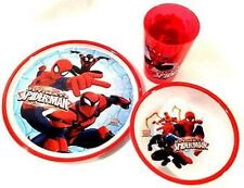 Marvel Ultimate Spiderman Mealtime Dinnerware Set Plate,Bowl and Cup-Brand New!