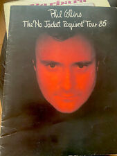 More details for phil collins 1985 the no jacket required world tour - uk tour programme