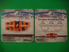 2009 Beer COASTER ~*~ COORS Brewing: NFL Countdown to Super Bowl Saints vs Colts