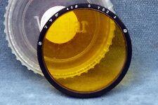 VIVITAR ROLLEI TLR BAY 3 40MM Y52 YELLOW METAL FILTER - FREE USA SHIPPING