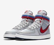 Nike vandalismo alta Supremo Qs AH8652-001 Plateado Metálico Talla UK 10 EU 45 nos 11 Nuevo